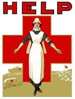 Help - Red Cross Nurse Fine-Art Print