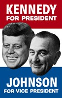 1960 Democratic Nominees, Kennedy & Johnson Fine-Art Print