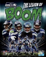 Seattle Seahawks Composite - Earl Thomas, Richard Sherman, Kam Chancellor, Byron Maxwell Fine-Art Print