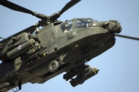 An AH-64 Apache in Flight Fine-Art Print