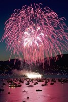 Fireworks, English Bay, Vancouver, British Columbia Fine-Art Print