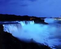 Niagara Falls at night, Niagara Falls, New York Fine-Art Print