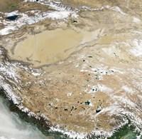 Satellite View of the Tibetan Plateau Fine-Art Print
