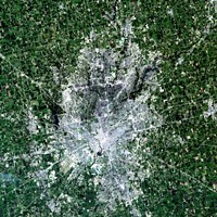 Satellite view of Indianapolis, Indiana Fine-Art Print