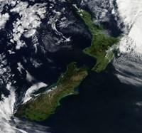 Satellite view of New Zealand Fine-Art Print