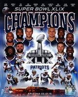 New England Patriots Super Bowl XLIX Champions Composite Fine-Art Print