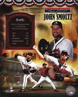 John Smoltz MLB Hall of Fame Legends Composite Fine-Art Print
