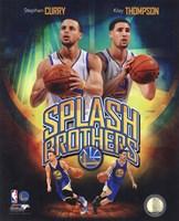 Stephen Curry & Klay Thompson Splash Brothers Portrait Plus Fine-Art Print
