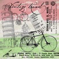 Vintage Travel Italia I (Flag) Fine-Art Print