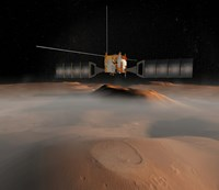 Artist's Concept of Mars Express Spacecraft in Orbit Around Mars Fine-Art Print