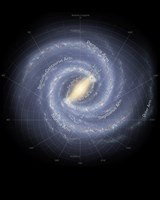 The Milky Way Galaxy (annotated) Fine-Art Print