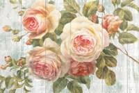 Vintage Roses on Driftwood Fine-Art Print
