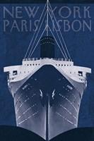 Passage Atlantique Blueprint Fine-Art Print