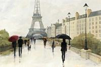 Eiffel in the Rain Marsala Umbrella Fine-Art Print