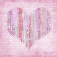 Striped Pink Heart Fine-Art Print