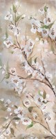 Cherry Blossoms Taupe Panel II Fine-Art Print