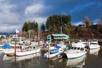 Port Alberni, Harbor Quay Marina, Vancouver Island, British Columbia, Canada Fine-Art Print