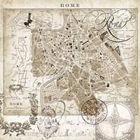Euro Map II - Rome Fine-Art Print