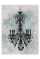 Chandelier  Splash Of Blue 2 Fine-Art Print