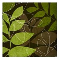 Green Brown Leaves Fine-Art Print