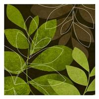 Green Brown Leaves 2 Fine-Art Print