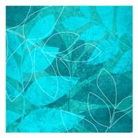Turquoise Leaves 1 Fine-Art Print