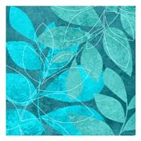 Turquoise Leaves 2 Fine-Art Print