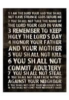Full 10 Commandments Fine-Art Print