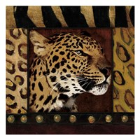 Leopard with Wild Border Fine-Art Print