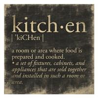 Kitchen Definition Fine-Art Print