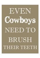 Cowboys Must Brush Fine-Art Print