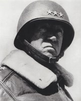 General George Patton in command of the US 7th Army in World War Two Fine-Art Print