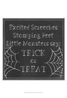 Spooky Chalkboard I Fine-Art Print