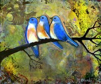 Three Little Bluebirds Fine-Art Print