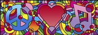 Peace Love Music A Fine-Art Print