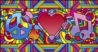 Peace Love Music B Fine-Art Print