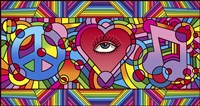 Peace Love Music C Fine-Art Print