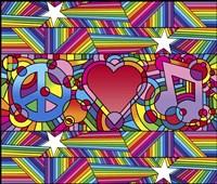 Peace Love Music D Fine-Art Print