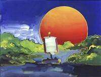 Sun Boat Fine-Art Print