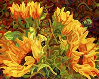Four Sunflowers Fine-Art Print