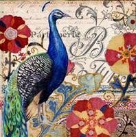 Peacock Decore I Fine-Art Print