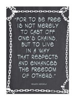 The Freedom of Others - Nelson Mandela Quote Fine-Art Print