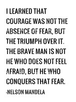 Courage - Nelson Mandela Quote Fine-Art Print