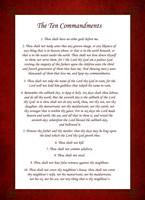 The Ten Commandments - Red Fine-Art Print