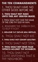 Ten Commandments - Red Grunge Fine-Art Print