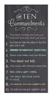 The Ten Commandments - Chalkboard Fine-Art Print