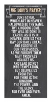 The Lord's Prayer - Chalkboard Style Fine-Art Print