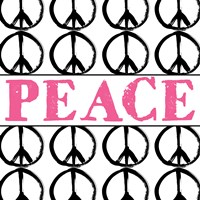 Peace - Pink with Peace Signs Fine-Art Print