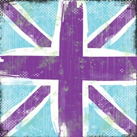 Union Jack Purple and Blue Fine-Art Print