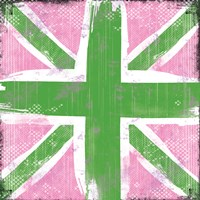 Union Jack Pink and Green Fine-Art Print
